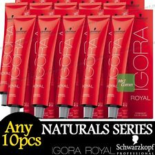 Any 10pcs Schwarzkopf IGORA ROYAL Permanent Colour Hair Dye Naturals Series 60ml