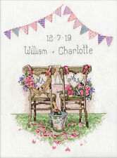 Cross Stitch Kit ~ Design Works Wedding Chairs Announcement #DW2993
