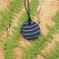 Shungite Round Pendant against EMF and Geopathic Stress Influence PE26