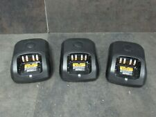Lot of 3 Motorola Impres Adaptive Single-Unit Charger Pmpn4137A