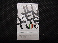 SAN MARINO 2016 JUVENTUS CAMPIONE D' ITALIA 2015 - 2016 francobollo + app infer.