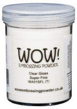 CLEAR GLOSS (LARGE TUB 160ml) WOW! EMBOSSING POWDER - CHOICE OF GRADES