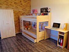 Hochbett Etagenbett Stockbett Kinderbett Kinderzimmer Rollrost Schublade Massiv