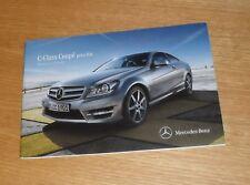 Mercedes Clase C Coupe Precio Folleto 2012 C220 C250 CDI C180 C350 C63 AMG Sport
