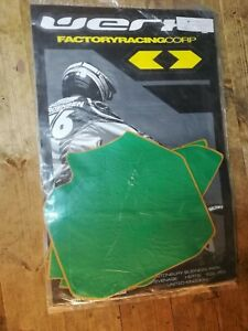 HONDA CR85 CR 85 GREEN PRE CUT BACKGROUNDS  / NUMBER PLATES BY WERX