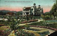 Paul De Longpre's Residence Home Garden Hollywood California CA Vintage Postcard