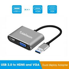 USB3.0 to VGA HDMI 1080P Video Graphics Cable Adapter For Windows 7/8/10 Laptop