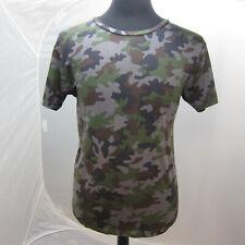 J-4058945 Neu Saint Laurent Grün Tarnfarbe T-Shirt Hemd Größe L