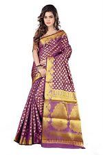 Women's Silk Saree With Blouse Piece (Assz00046_Purple)