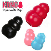 KONG Dog Toy Puppy Classic Chew or Extreme treat Snack Holder Rubber Red Black
