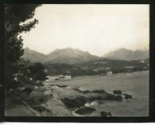 Italie, Gênes, panorama Vintage silver print,  Tirage argentique  9x12  Ci