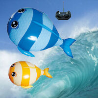 Remote Controlled Inflatable Air Swimming FishParty Toys Kids Gift Blue