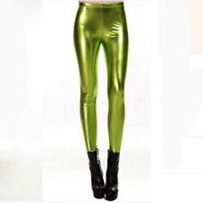New Ladies Women Punk Metallic Hot Lycra Wet Look Shiny Pants Leggings Trousers
