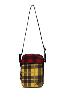 Nike Heritage Yellow Red Plaid Crossbody Bag BA5899-010 shoulder ba
