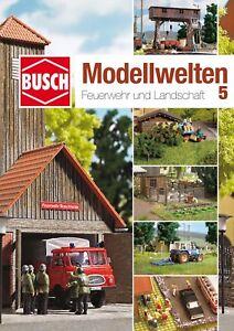 "Busch 999815 Craft Magazine "" Model World 5 Fire Brigade And Landscape # New #"