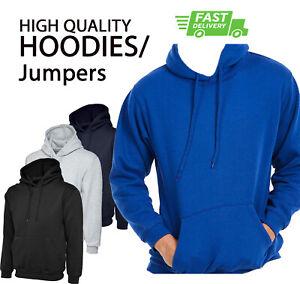 PLAIN NO TEXT Classic HOODIE Hooded Sweatshirt Jumper Work Sports Team Unisex P