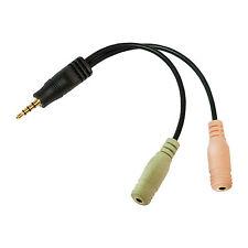 Audio enchufes adaptador Logilink ca0021 3,5mm conector de 2x 3,5mm hembra de 4 pines