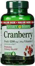 Natures Bounty Cranberry Fruit 4200 Mg Plus Vitamin C 250 Softgels Supplement