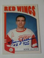 Norm Ullman Detroit Red Wings Toronto Maple Leafs autographed card #2