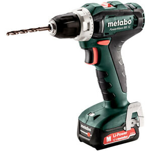 Metabo Powermaxx BS12 12V Drill/Driver with 2x 2.0Ah batteries in Case