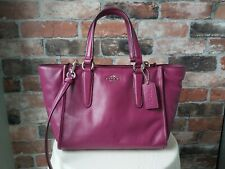 COACH GENUINE LEATHER PURPLE MULBERRY TOTE CITY GRAB MESSENGER BAG