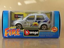 [PI3-38] BBURAGO BURAGO 1/43 STREET FIRE #41590 VOLKSWAGEN GOLF RALLY N.2 NIB