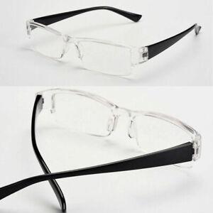 Unisex Lightweight Flexible Rimless Rectangular Readers Reading Glasses Strength