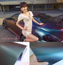 Flexible Car Chameleon 3d Carbon Fiber Vinyl Wrap Film Sticker Green Purple Hdus