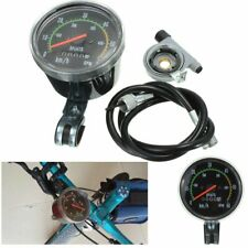 Waterproof Bicycle Bike Speedometer Analog Mechanical Odometer With Hardware New