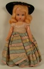 Storybook Doll Hard Plastic With Hat & Dress Circa 1960'S