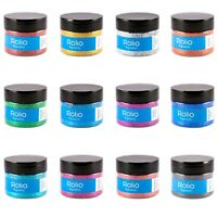 Rolio Vibrant Holographic Craft Glitters - 12 Jars 180 Grams Resin, Makeup