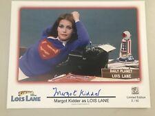 MARGOT KIDDER Lois Lane Signed Superman Autograph 11x14 Photo #ed To 50