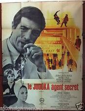 "JUDOKA AGENT SECRET {JEAN-CLAUDE BERCQ} 47""x63"" French Movie Poster 60s"