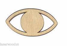 Eye Unfinished Flat Wood Shape Cut Out Variety Sizes E4675 Laser Crafts