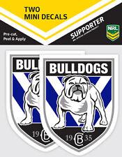 Official Canterbury Bulldogs NRL iTag UV Car Team Logo Mini Decal Sticker x 2