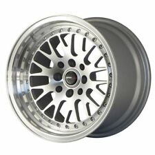 "Japan Racing JR10 18"" 9.5J 5x120 5x100 ET35 Argent Alliage Jante Roue Y1886 unique"