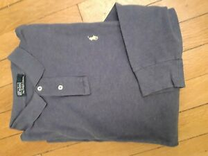 Polo marine manches longues - POLO by RALPH LAUREN taille L