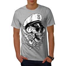 Wellcoda Pirate Swag Head Skull Mens T-shirt, Skull Graphic Design Printed Tee