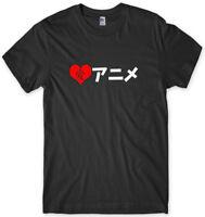I Love Anime Japanese Japan Mens Funny Unisex T-Shirt