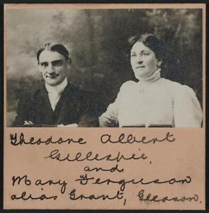 Photo:Theodore Albert Gillespie,Mary Gerguson,Criminals,c1900 9663