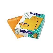 100 BUSINESS ENVELOPES 12x15.5 28lb Kraft Manila Shipping Catalog Yellow Clasp #