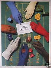PUBLICITÉ 1956 GANTS FILEX COTON D'EGYPTE NYLON - ADVERTISING