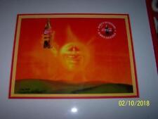 RARE Coca Cola SUN Set Coke ART Signed CEL 156-2000 LTD Print Frame Certificate