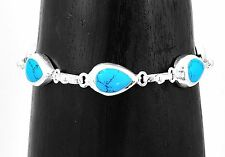 Artisan Classic Turquoise Bracelet from Taxco Mexico