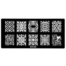 6*12cm Nail Art Image Stamping Template Sexry Crossing Line Manicure Konad BCN08