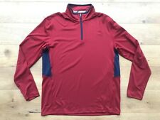 2019 Puma Golf Rotation 1/4 Zip Long Sleeve Pullover Red Navy Sz M ( 577900 11 )
