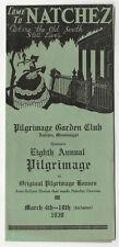 1939 NATCHEZ MISSISSIPPI Travel Brochure PILGRIMAGE Old South ANTEBELLUM Homes