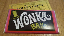 Nouvelle annonce WONKA CHOCOLATE BAR 100 g chocolat au lait Nouveauté Replica Movie ticket d'or x...