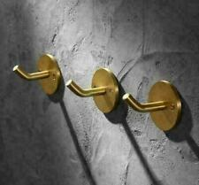 Robe Hooks Brass Brushed Gold 3-Pecie Wall Mounted Coat Towel Rack Single Hook