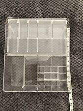 Acrylic Compartment Cosmetics Organiser Clear Plastic Makeup Brush Storage Box